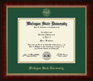 Michigan State University Diploma Frame - Gold Embossed Diploma Frame in Murano