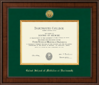 Dartmouth College Diploma Frame - Presidential Gold Engraved Diploma Frame in Madison