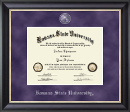 Kansas State University Diploma Frame - Regal Edition Diploma Frame in Noir