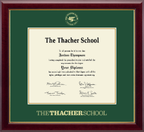 The Thacher School Diploma Frame - Gold Embossed Diploma Frame in Gallery