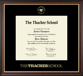 The Thacher School Diploma Frame - Gold Embossed Diploma Frame in Studio Gold