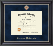 Syracuse University Diploma Frame - Masterpiece Medallion Diploma Frame in Noir