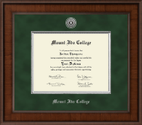 Mount Ida College Diploma Frame - Presidential Silver Engraved Diploma Frame in Madison