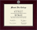Mount Ida College Diploma Frame - Century Silver Engraved Diploma Frame in Cordova