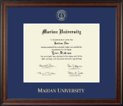 Marian University in Wisconsin Diploma Frame - Gold Embossed Diploma Frame in Studio
