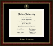 Walden University Diploma Frame - Gold Embossed Diploma Frame in Murano