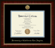 University of California Los Angeles Diploma Frame - Gold Engraved Medallion Diploma Frame in Murano