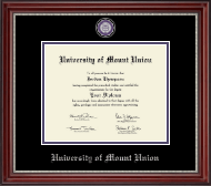 University of Mount Union Diploma Frame - Masterpiece Medallion Diploma Frame in Kensington Silver