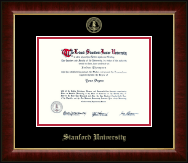 Stanford University Diploma Frame - Gold Embossed Diploma Frame in Murano