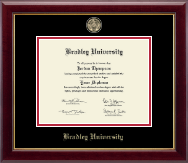 Bradley University Diploma Frame - Masterpiece Medallion Diploma Frame in Gallery