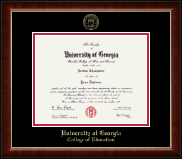 The University of Georgia Diploma Frame - Gold Embossed Diploma Frame in Murano