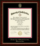 University of South Carolina School of Law Diploma Frame - Gold Embossed Diploma Frame in Murano