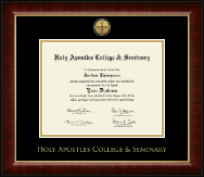 Holy Apostles College & Seminary Diploma Frame - Gold Engraved Medallion Diploma Frame in Murano