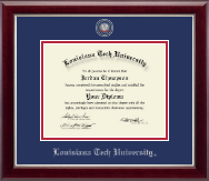 Louisiana Tech University Diploma Frame - Masterpiece Medallion Diploma Frame in Gallery Silver