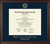 University of North Carolina Chapel Hill Diploma Frame - Gold Embossed Diploma Frame in Studio