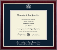 University of New Hampshire Diploma Frame - Masterpiece Medallion Diploma Frame in Gallery Silver