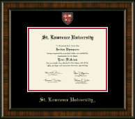 St. Lawrence University Diploma Frame - Masterpiece Medallion Diploma Frame in Brentwood