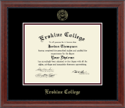 Erskine College Diploma Frame - Gold Embossed Diploma Frame in Signature