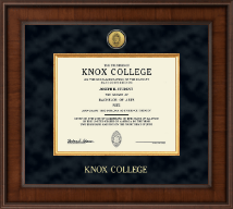 Knox College Diploma Frame - Presidential Gold Engraved Diploma Frame in Madison