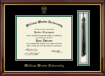 William Woods University Diploma Frame - Tassel Edition Diploma Frame in Southport Gold