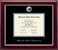Mayville State University  Diploma Frame - Silver Engraved Medallion Diploma Frame in Gallery Silver