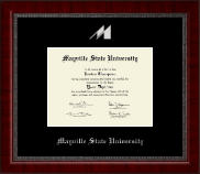 Mayville State University  Diploma Frame - Silver Embossed Diploma Frame in Sutton