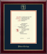 Pitzer College Diploma Frame - Gold Embossed Diploma Frame in Gallery