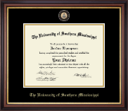 The University of Southern Mississippi Diploma Frame - Masterpiece Medallion Diploma Frame in Regency Gold