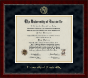 University of Louisville Diploma Frame - Gold Embossed Diploma Frame in Sutton