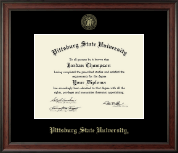 Pittsburg State University Diploma Frame - Gold Embossed Diploma Frame in Studio