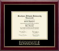 Southern Illinois University at Edwardsville Diploma Frame - Gold Embossed Diploma Frame in Gallery
