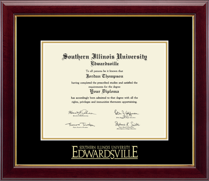 Southern Illinois University at Edwardsville Gold Embossed Diploma ...