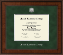 Sarah Lawrence College Diploma Frame - Presidential Silver Engraved Diploma Frame in Madison