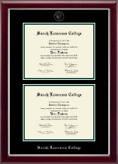 Sarah Lawrence College Diploma Frame - Double Diploma Frame in Gallery Silver