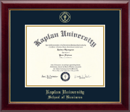Kaplan University Diploma Frame - Gold Embossed Diploma Frame in Gallery