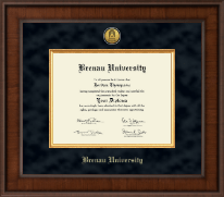 Brenau University Diploma Frame - Presidential Gold Engraved Diploma Frame in Madison