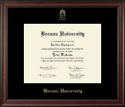 Brenau University Diploma Frame - Gold Embossed Diploma Frame in Studio
