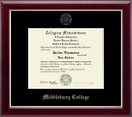Silver Embossed Diploma Frame