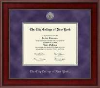 The City College of New York Diploma Frame - Presidential Silver Engraved Diploma Frame in Jefferson