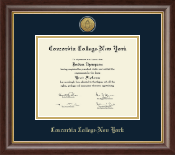 Concordia College New York Diploma Frame - Gold Engraved Medallion Diploma Frame in Hampshire