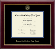 Concordia College New York Diploma Frame - Gold Embossed Diploma Frame in Gallery