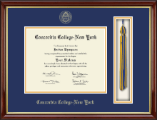 Concordia College New York Diploma Frame - Tassel Edition Diploma Frame in Southport Gold