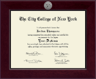 The City College of New York Diploma Frame - Century Silver Engraved Diploma Frame in Cordova