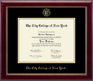 The City College of New York Diploma Frame - Gold Embossed Diploma Frame in Gallery