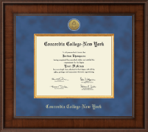 Concordia College New York Diploma Frame - Presidential Gold Engraved Diploma Frame in Madison