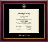 Molloy College Diploma Frame - Gold Embossed Diploma Frame in Gallery