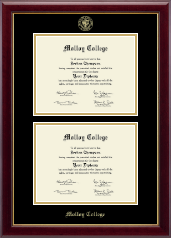 Molloy College Diploma Frame - Double Diploma Frame in Gallery