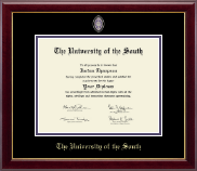 The University of the South Diploma Frame - Masterpiece Medallion Diploma Frame in Gallery