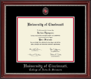 University of Cincinnati Diploma Frame - Masterpiece Medallion Diploma Frame in Kensington Silver