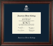 American River College Diploma Frame - Silver Embossed Diploma Frame in Studio